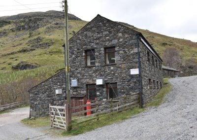 Hostel from gate end - landscape